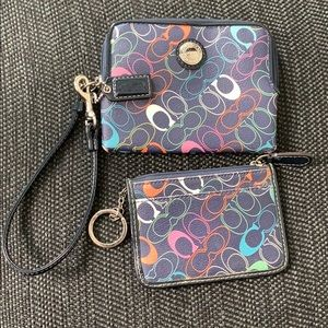 Coach Wristlet and Card/Change Holder